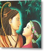 Sita Rama In The Forest Metal Print