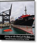 Sitting At The Dock Of The Bay Metal Print