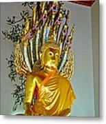 Sitting Buddha In Wat Po In Bangkok-thailand Metal Print