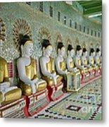 sitting Buddhas in Umin Thonze Pagoda Metal Print