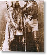 Sitting Bull And Buffalo Bill Metal Print