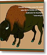 Sitting Bull Buffalo Metal Print