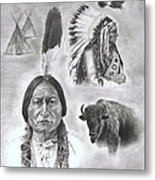 Sitting Bull Metal Print by Jessica Hallberg