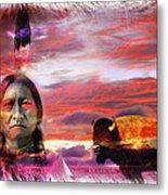 Sitting Bull Metal Print by Mal Bray