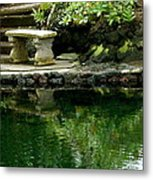 Sitting By The Pond Metal Print