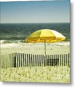 Sitting By The Shore Metal Print