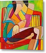Sitting In The Sun Metal Print by Deborah Glasgow