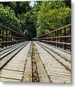 Sitting On A Bridge Metal Print