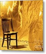Sitting On Edge Metal Print