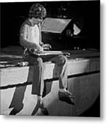 Sitting On The Front Of The Stage 1977 Metal Print