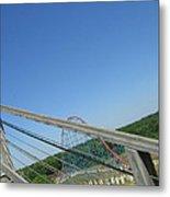 Six Flags America - Roar Roller Coaster - 12122 Metal Print