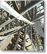 Six Flags America - Roar Roller Coaster - 12127 Metal Print