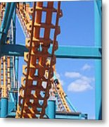 Six Flags America - Two-face Roller Coaster - 12121 Metal Print