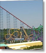 Six Flags America - Wild One Roller Coaster - 12123 Metal Print