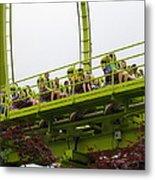 Six Flags Great Adventure - Medusa Roller Coaster - 12121 Metal Print