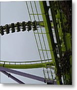 Six Flags Great Adventure - Medusa Roller Coaster - 12122 Metal Print by DC Photographer
