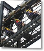 Six Flags Great Adventure - Medusa Roller Coaster - 12123 Metal Print