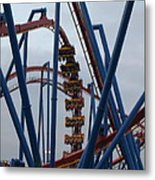 Six Flags Great Adventure - Medusa Roller Coaster - 12125 Metal Print