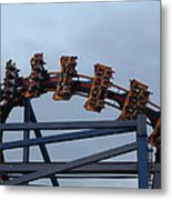 Six Flags Great Adventure - Medusa Roller Coaster - 12127 Metal Print by DC Photographer
