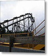 Six Flags Great Adventure - Nitro Roller Coaster - 12122 Metal Print