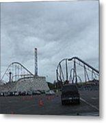 Six Flags Magic Mountain - 12121 Metal Print