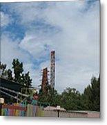 Six Flags Magic Mountain - 12122 Metal Print