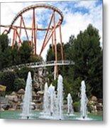 Six Flags Magic Mountain - 12124 Metal Print