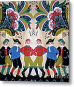 Six Men Dancing Metal Print