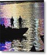 Six On A Boat Metal Print