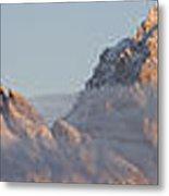 Six Peaks Of The Teton Mountain Range Metal Print