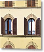 Six Windows Of Florence Metal Print