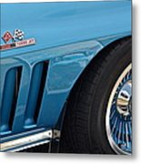 Sixty Six Corvette Roadster Metal Print by Frozen in Time Fine Art Photography