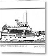 Sixtyfive Foot Defever Trawler Yacht Metal Print by Jack Pumphrey
