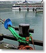 Skagway Dock Metal Print