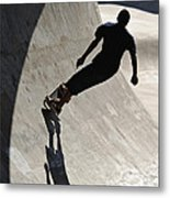 Skateboard Shadow - D001936 Metal Print