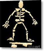 Skateboard Skeleton Metal Print