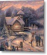 Skating By Twilight Metal Print by Chuck Pinson