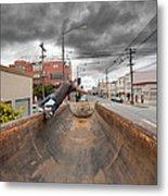 Dump Truck Skateboarding In Balboa Street Metal Print