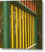 Skc 3266 Colorful Gate Metal Print