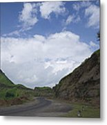 Skc 3557 Drive Up The Mountain Metal Print