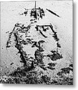 Skeleton Boat Metal Print