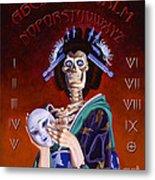 Skeleton Geisha Ouija Board Metal Print