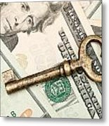 Skeleton Key On Cash. Metal Print
