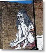 Skeleton Lady Metal Print