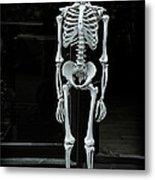 Skeleton New York City Metal Print