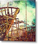 Skeletons In The Yard - Boatbuilding In Ecuador Metal Print
