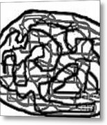 Sketch 20 Metal Print by Meenal C