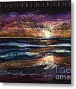 Sketch For Cool Morning Beach Metal Print by Peter R Davidson