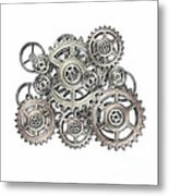Sketch Of Machinery Metal Print