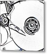 Sketch Of The Hard Disk Metal Print